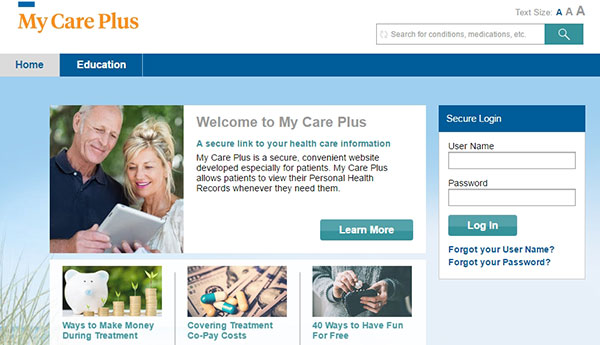 Southwest Womens Oncology MyCare Plus Patient Portal