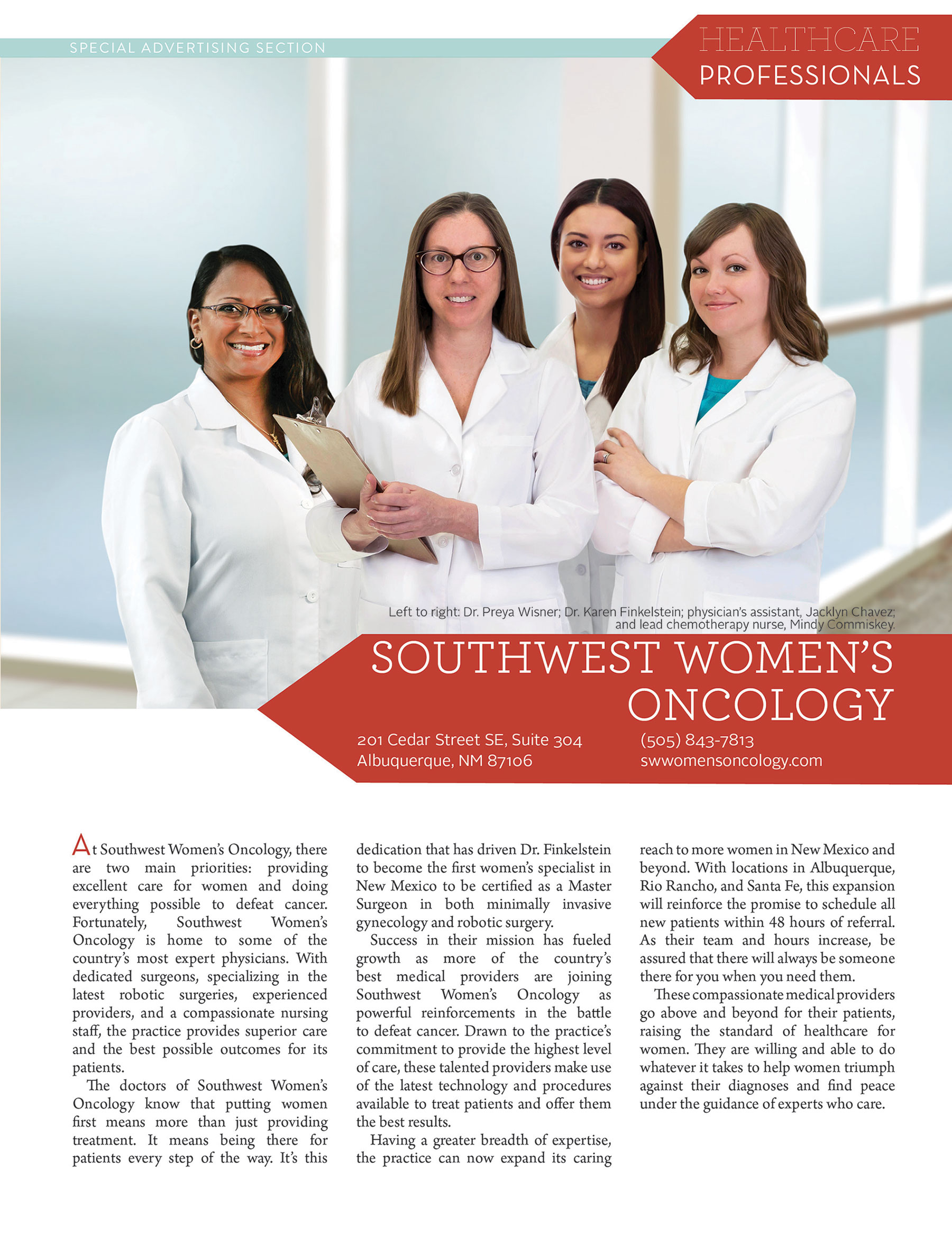 gynecologic oncology professionals