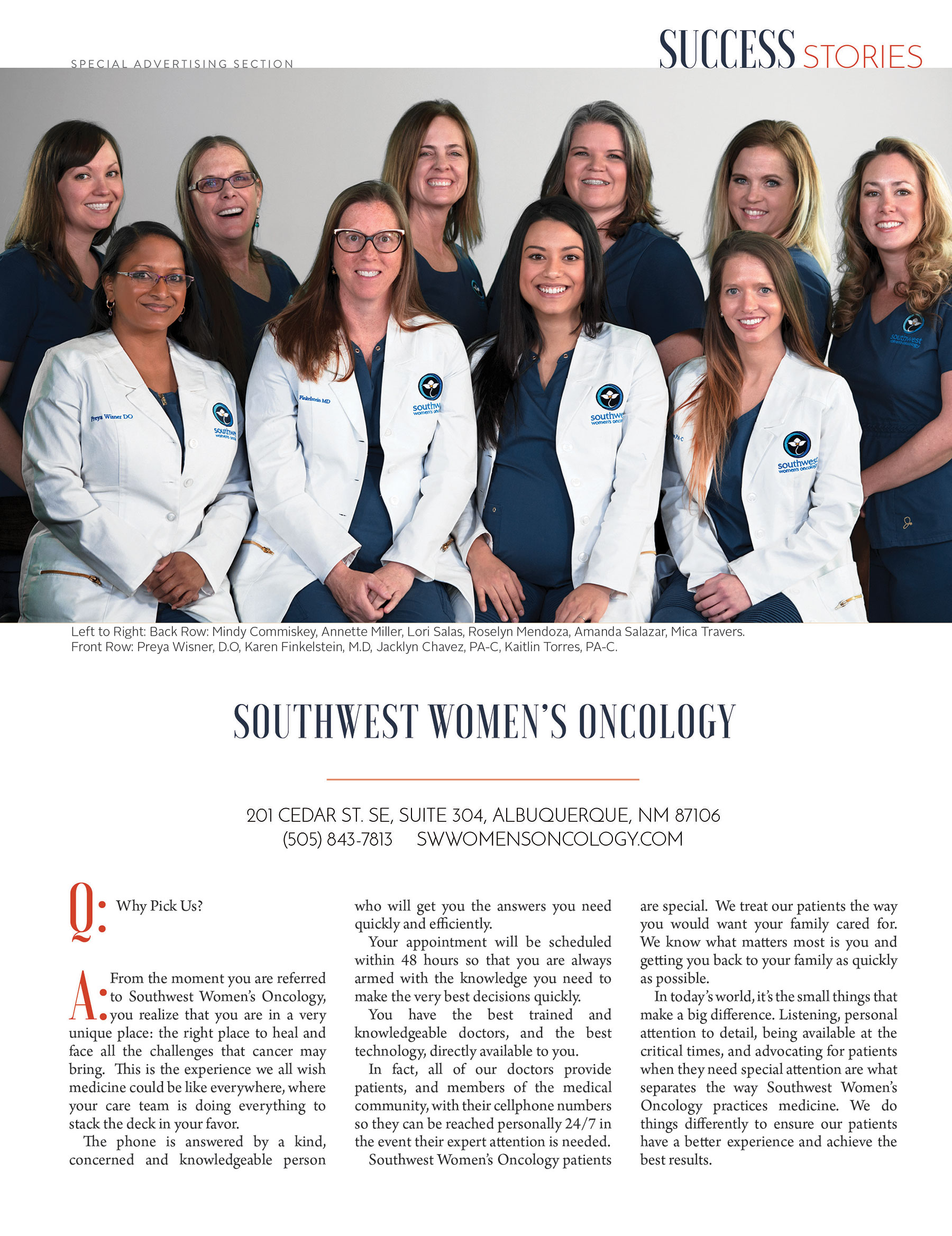 southwest womens oncology inspires cancer patients to go further