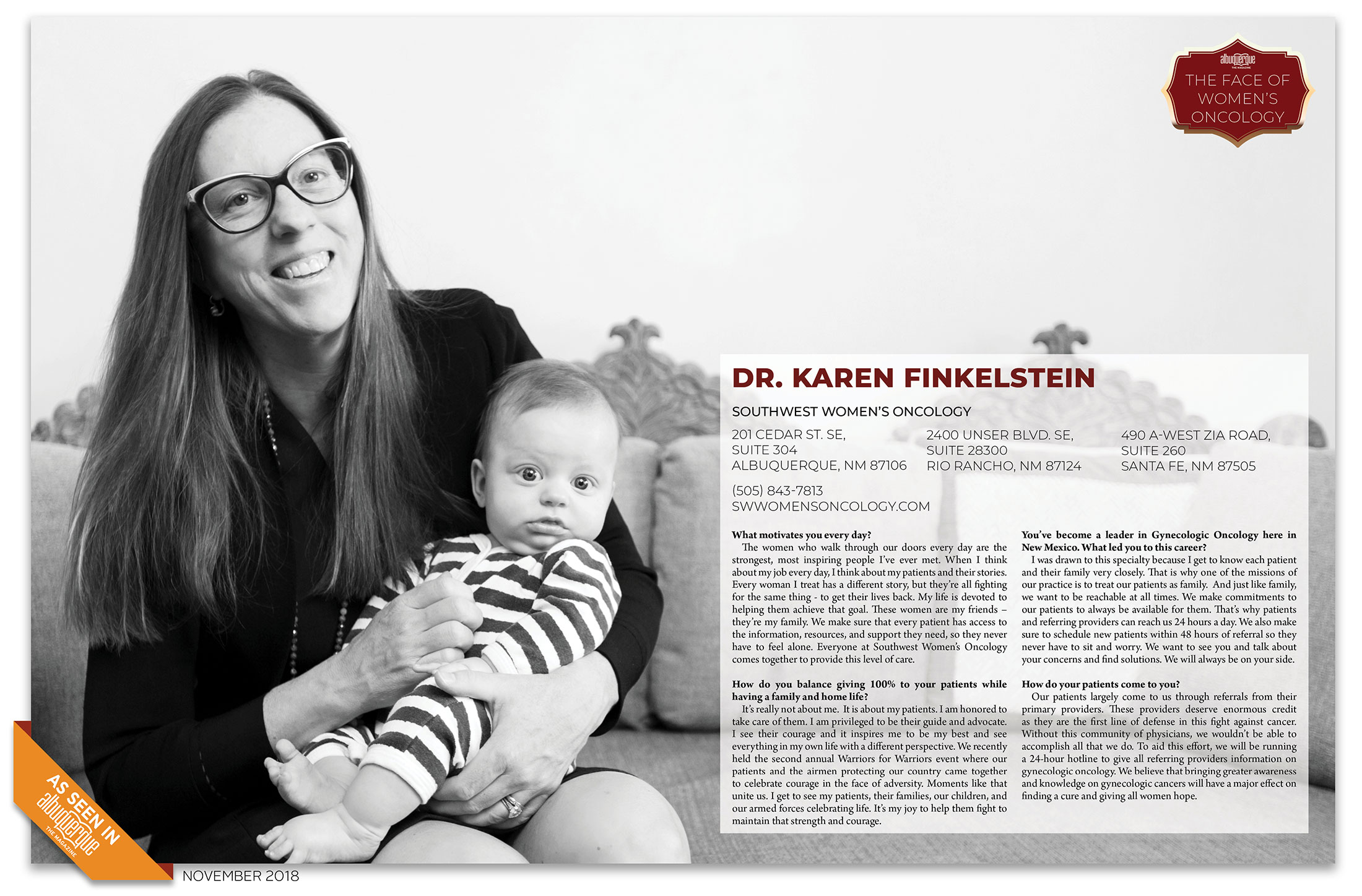 Dr. karen finkelstein is New Mexico's leading women's oncologist