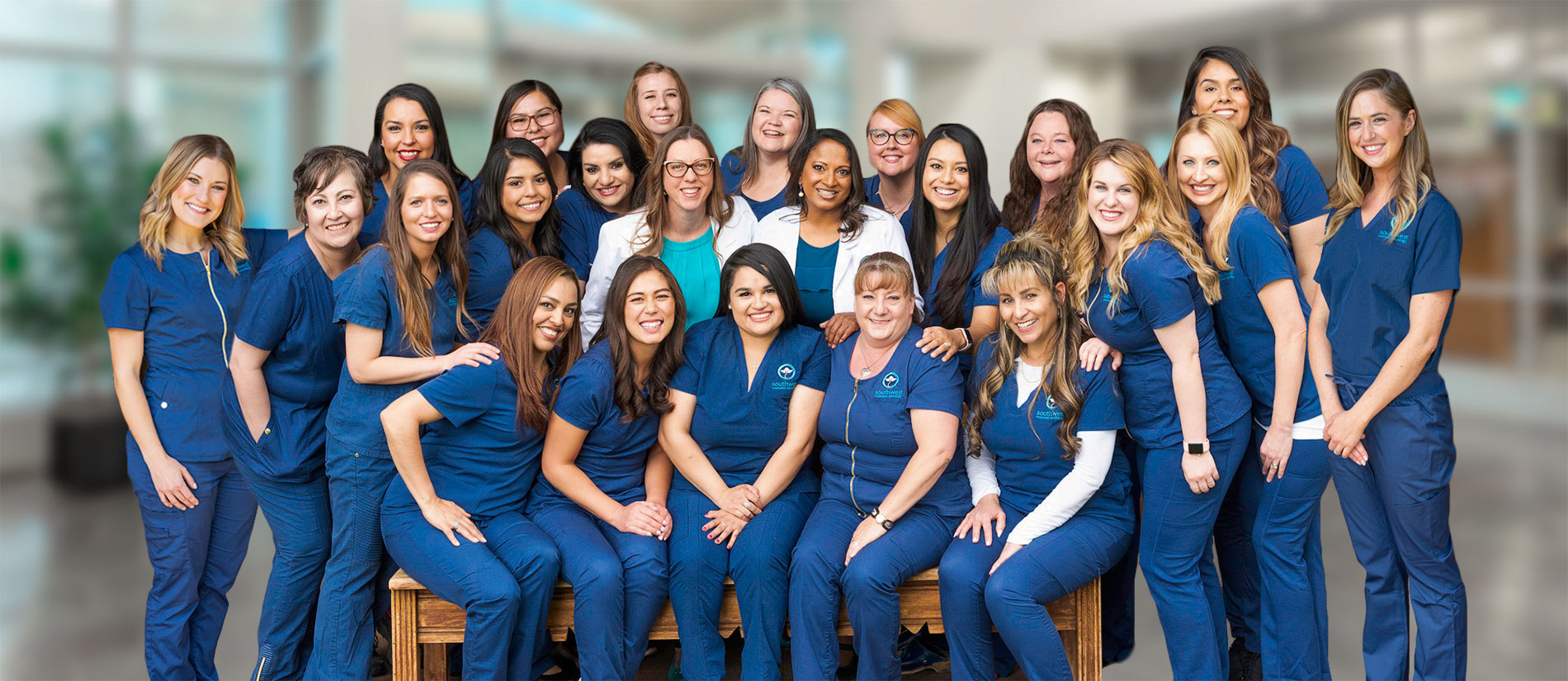 medical oncology team of women treating cancer