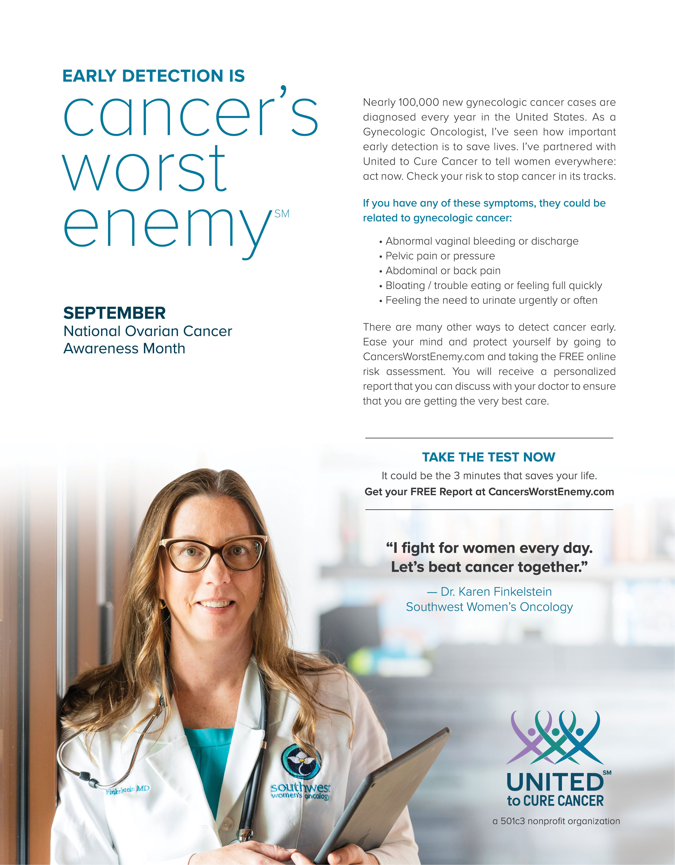 September Is Ovarian Cancer Awareness Month Sw Women S Oncology